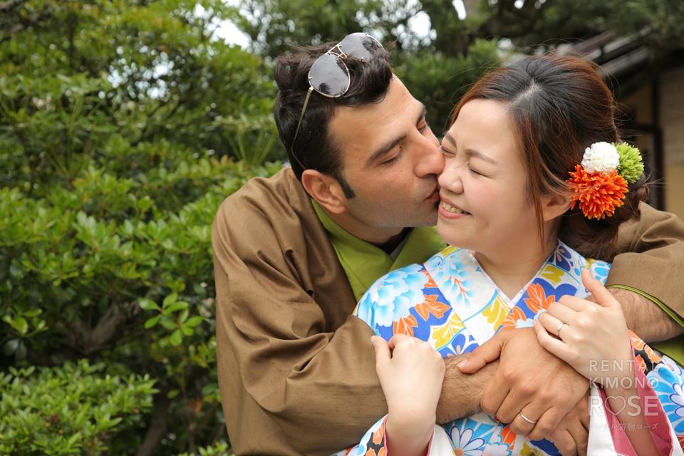 写真:新婚さんと東山ロケーション撮影