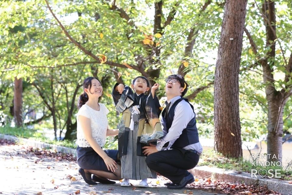 写真:京都・八坂庚申堂や高台寺で七五三ご家族様ロケーション撮影