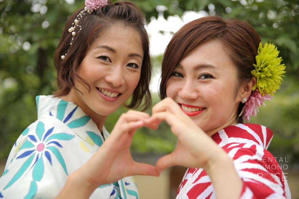 写真:ブランド浴衣で涼やかに☆楽しく京都ふたり女子旅