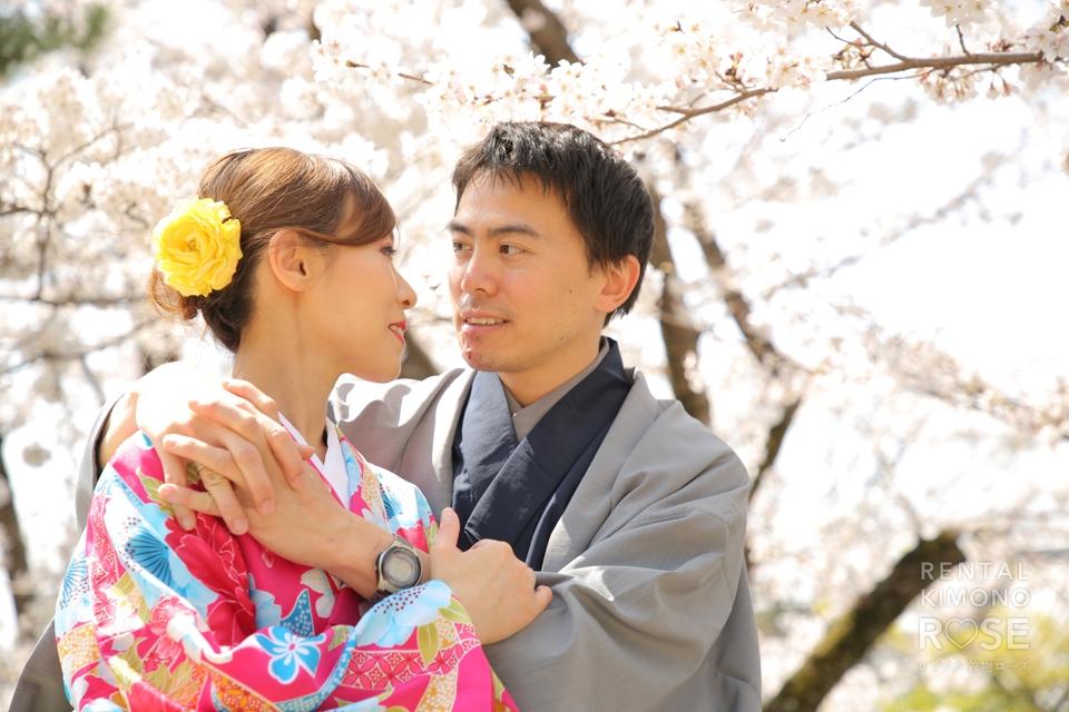 写真:海外からお越しのドラマチックなご夫婦とロケ撮影