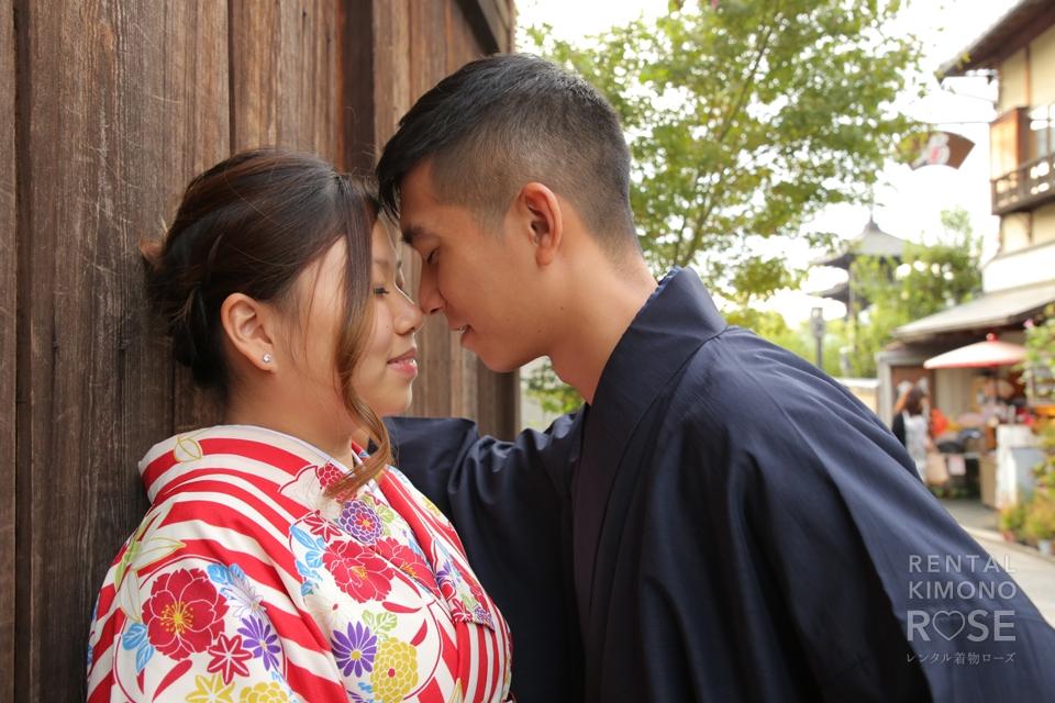 写真:着物姿で京都東山ロケーション撮影