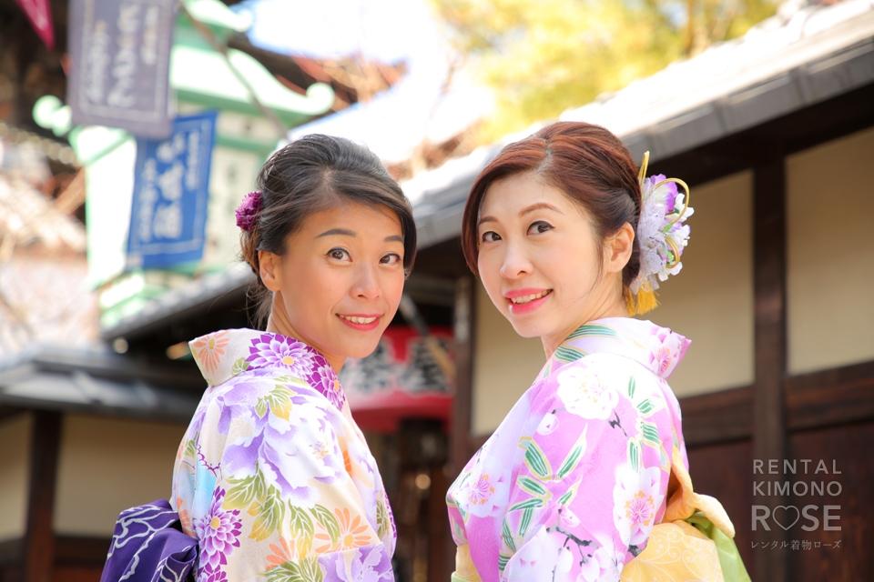 写真:香港からお仕事がてら京都旅行で着物ロケ撮影