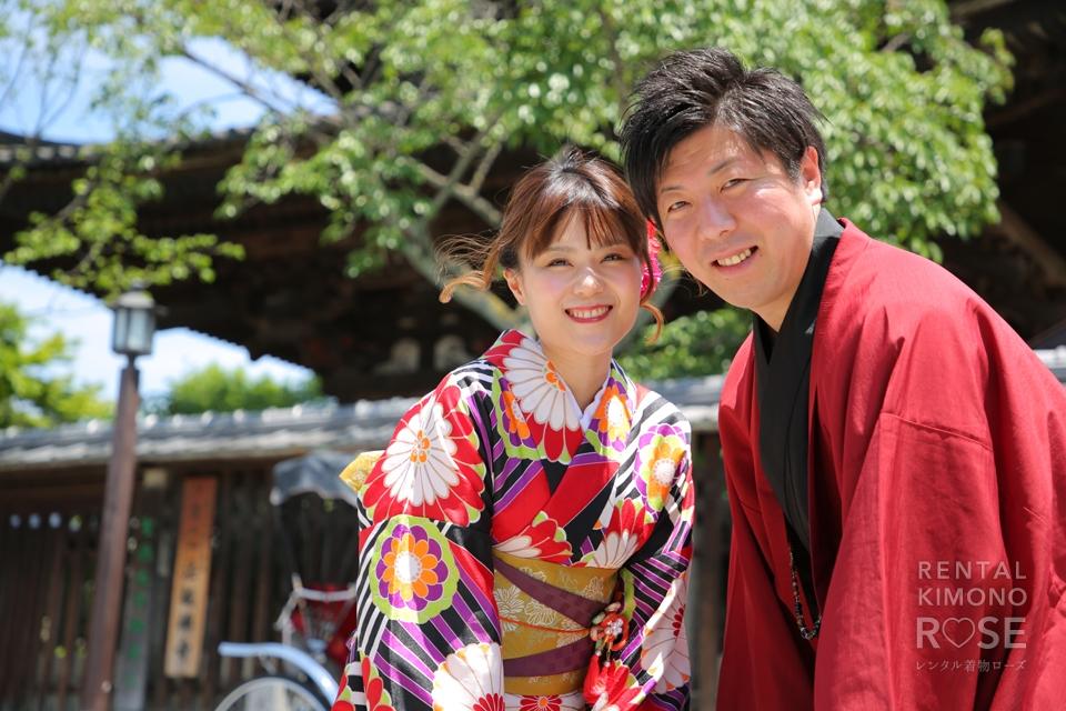 写真:笑顔が素敵なお2人と東山ロケ撮☆