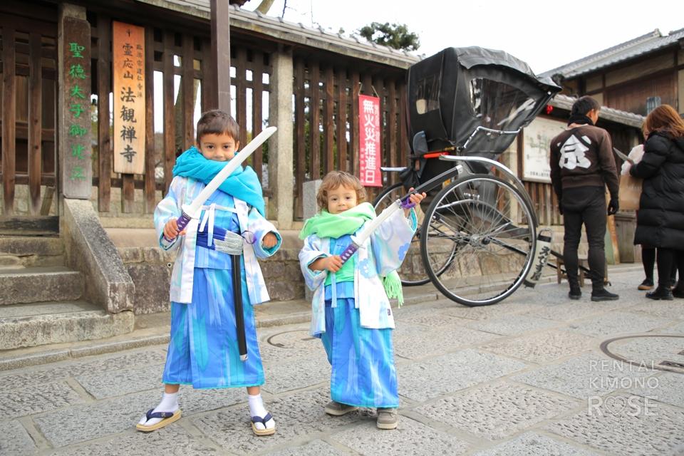 写真:日本在住の海外の方が可愛いお子さんと京都ロケ撮影