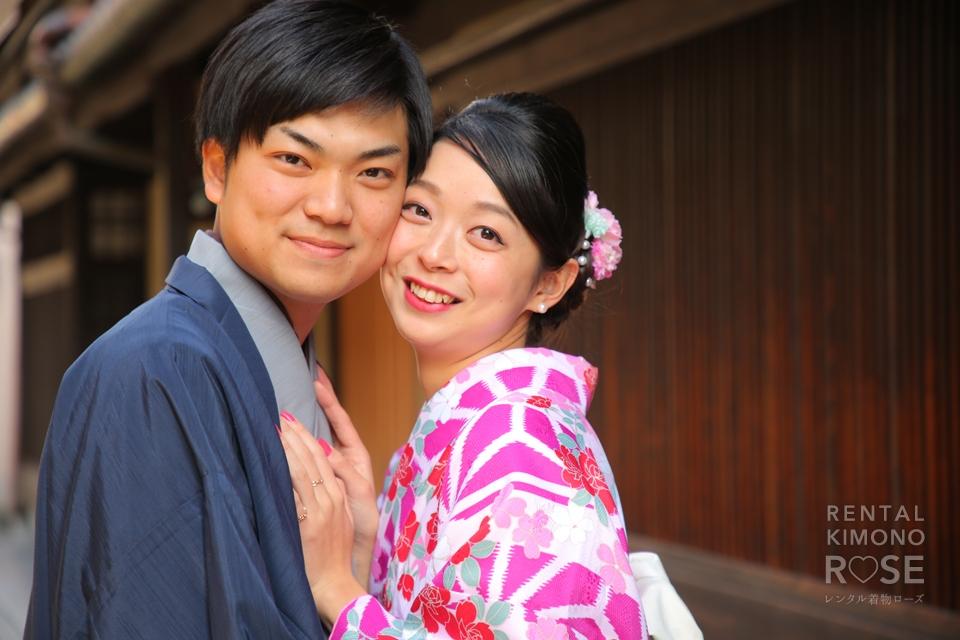 写真:京都情緒溢れる祇園の町並みでロケーション撮影