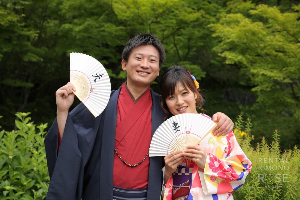 写真:婚約中のお2人と東山ロケ撮♥︎