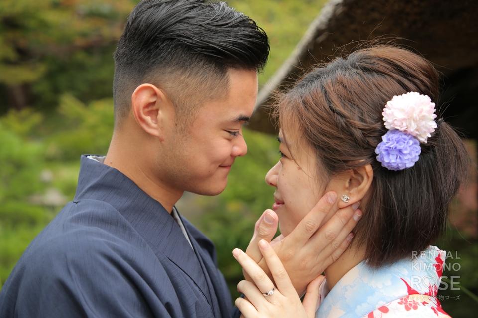 写真:香港からの素敵な婚約中カップル様とロケ撮影
