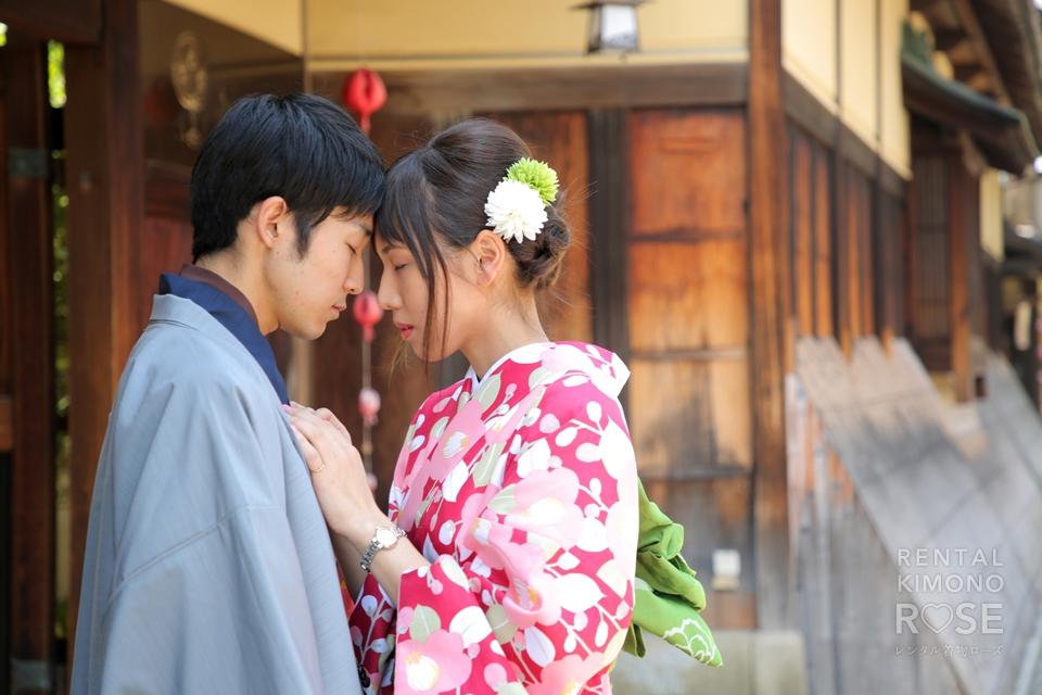 写真:ラブラブカップルと東山ロケ撮影♡