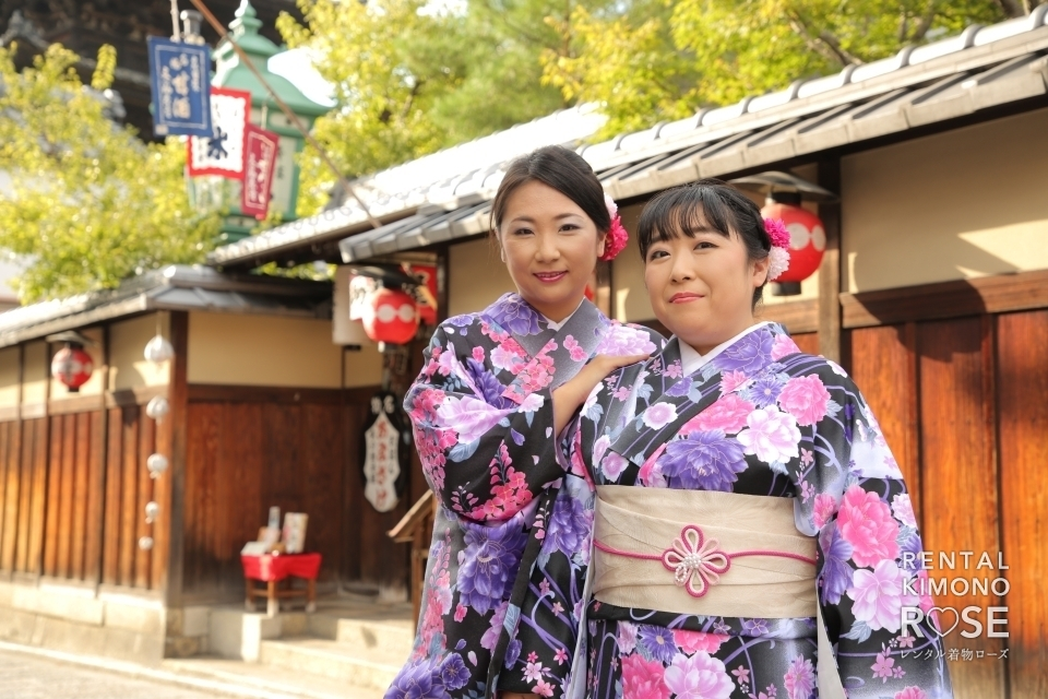 写真:お揃いの着物で仲良し姉妹の京都旅をロケ撮影