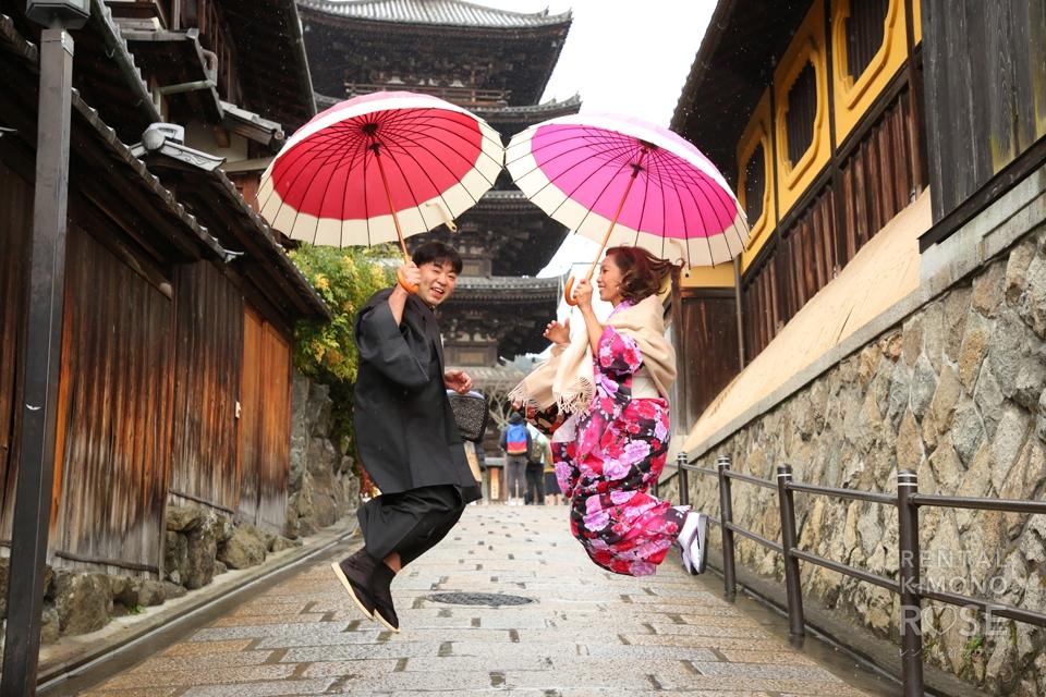 写真:海外からの奥さまとご夫婦で京都旅行ロケ撮影