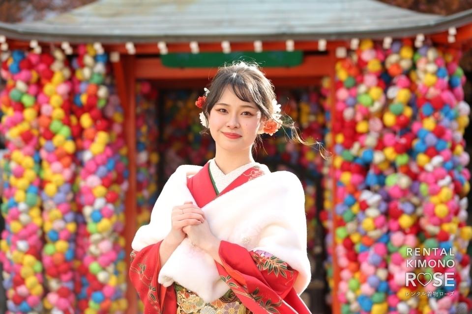 写真:京都・八坂庚申堂や二年坂で成人式振袖持ち込みロケ撮影