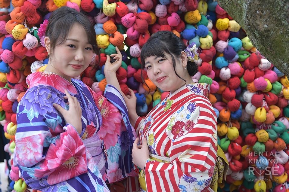 写真:お友達と京都で思い出作り♡