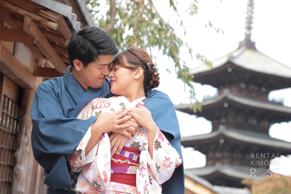 写真:ラブラブご夫婦と東山ロケ撮♥︎