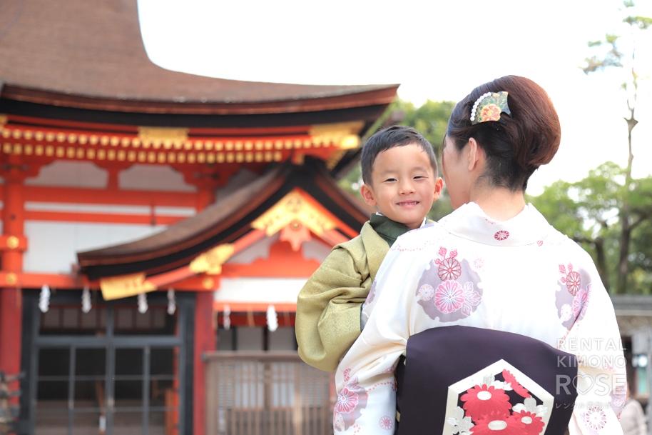 写真:神社で七五三ロケ撮♪