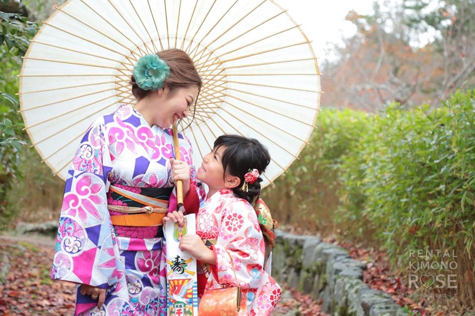 写真:親子でいく、東山ロケーション撮影☆