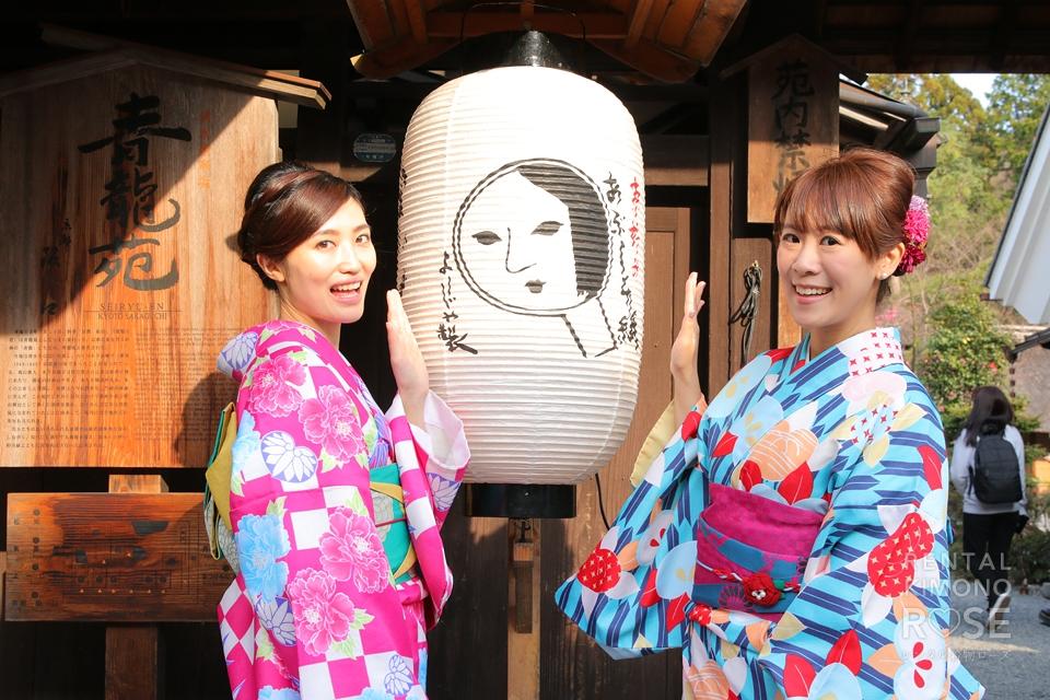 写真:海外より着物美人様お二人で京都旅ロケ撮影