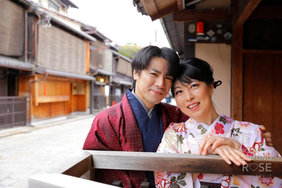 写真:祇園白川を着物姿でしっとり大人デート撮影