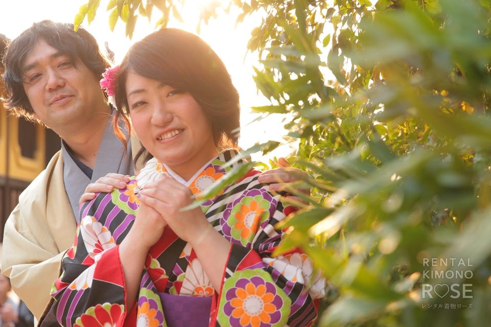 写真:笑顔の素敵なお客様と♪春の東山ロケーション撮影☆