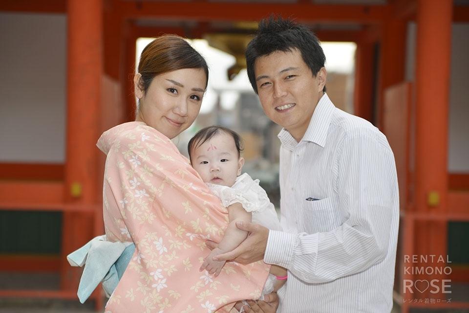 写真:京都市内の神社でお宮参り